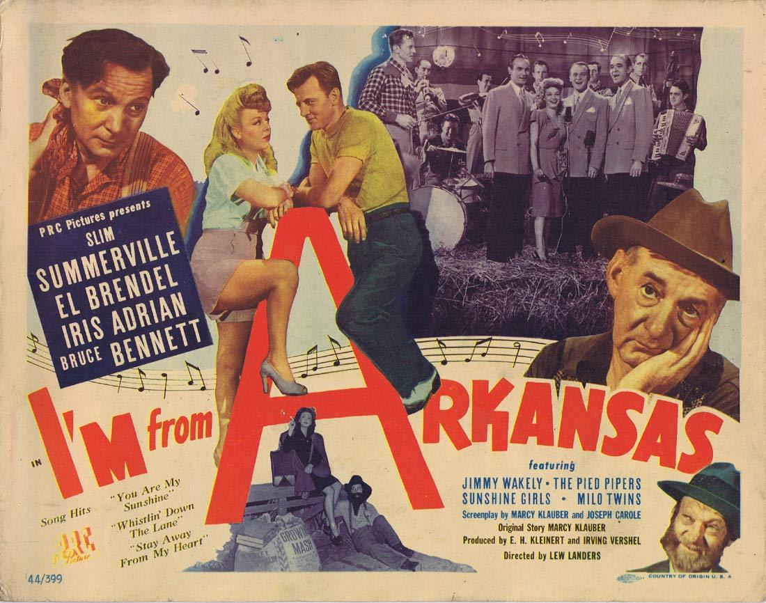 I'M FROM ARKANSAS Original Title Lobby Card Slim Summerville El Brendel Bruce Bennett