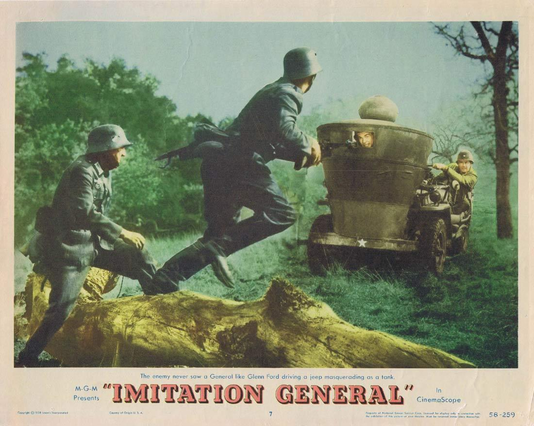 IMITATION GENERAL Lobby Card 7 Glenn Ford Red Buttons Taina Elg