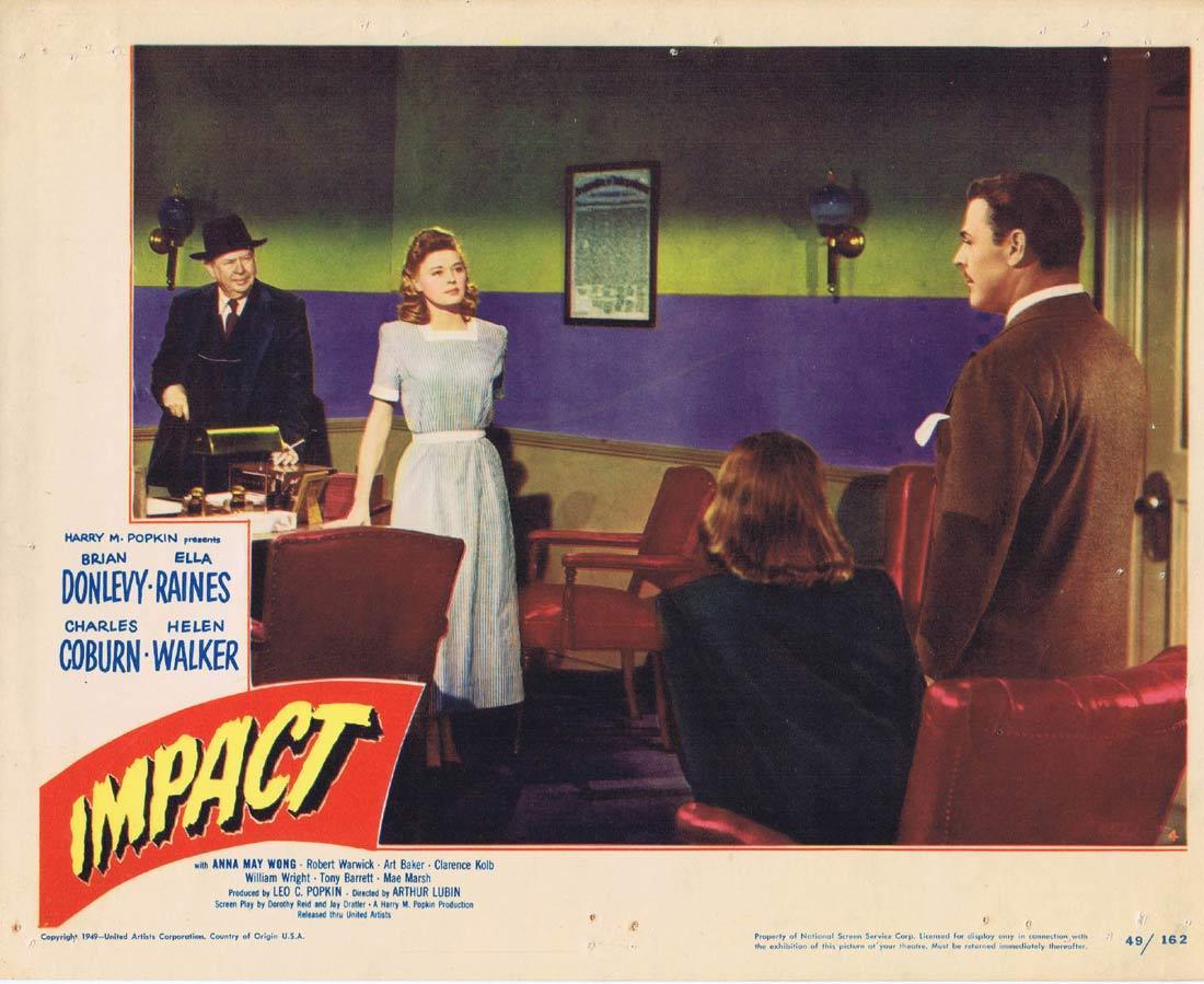 IMPACT 1949 Film Noir Brian Donlevy RARE Lobby Card 4