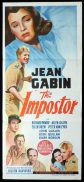 THE IMPOSTOR aka Strange Confession Original Daybill Movie Poster Jean Gabin
