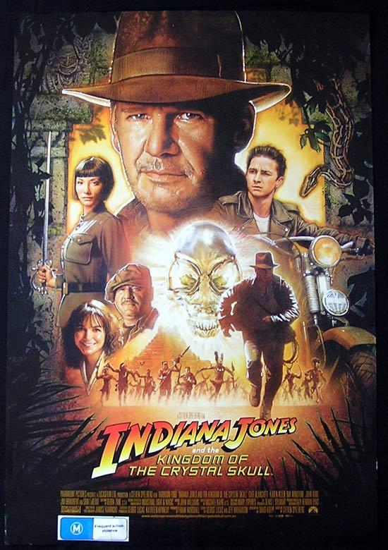 INDIANA JONES AND THE KINGDOM OF THE CRYSTAL SKULL Original DS Australian one sheet Movie poster