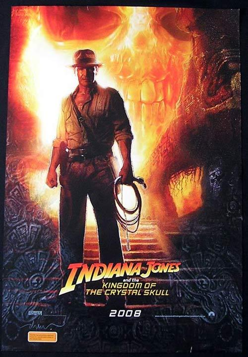 INDIANA JONES AND THE KINGDOM OF THE CRYSTAL SKULL '08 Advance Australian 1sh poster