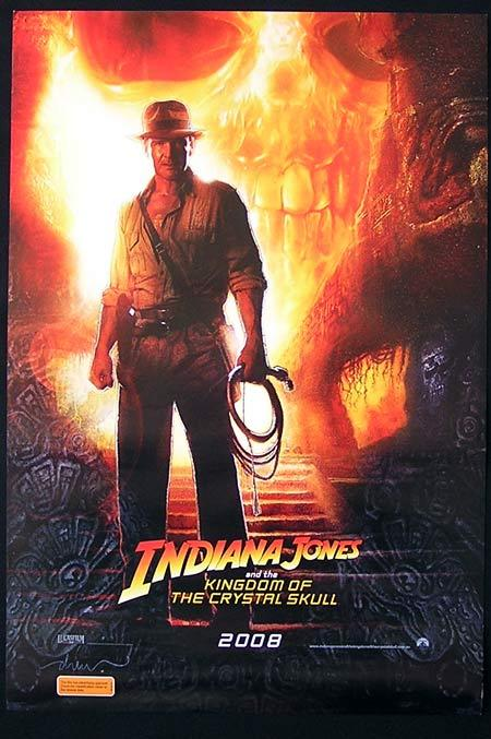 INDIANA JONES AND THE KINGDOM OF THE CRYSTAL SKULL Original Advance Daybill Movie poster