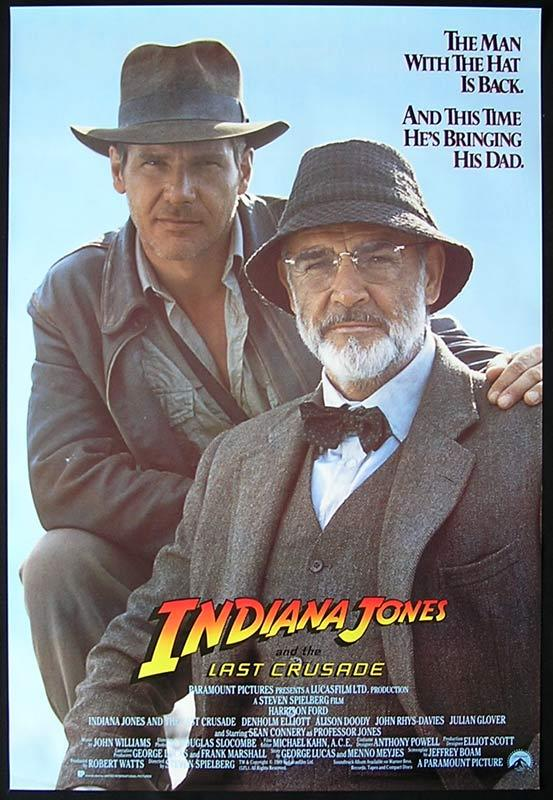 INDIANA JONES AND THE LAST CRUSADE Advance US One sheet Movie poster Harrison Ford