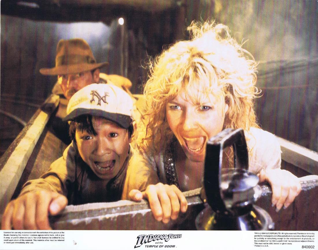 INDIANA JONES AND THE TEMPLE OF DOOM Lobby Card 3 Harrison Ford