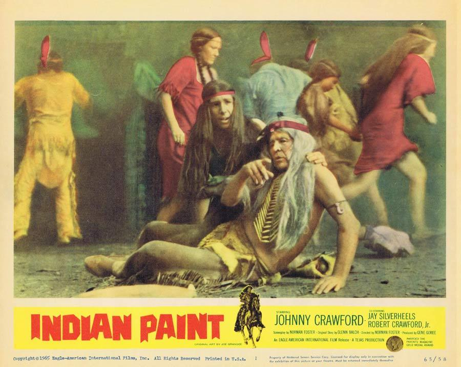 INDIAN PAINT Lobby Card 1 Johnny Crawford American Indian