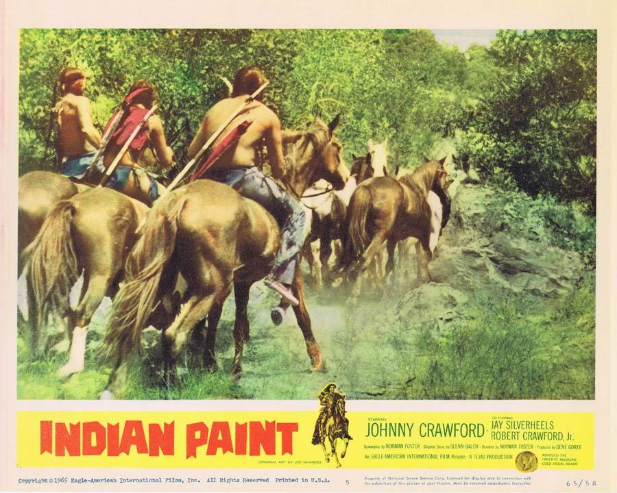 INDIAN PAINT Lobby Card 5 Johnny Crawford American Indian