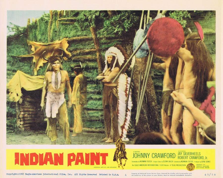 INDIAN PAINT Lobby Card 6 Johnny Crawford American Indian