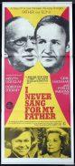 I NEVER SANG FOR MY FATHER Original Daybill Movie Poster Melvyn Douglas Gene Hackman