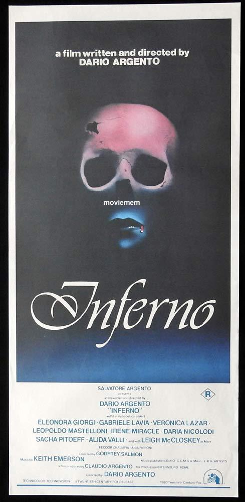 INFERNO Original Daybill Movie poster DARIO ARGENTO Horror