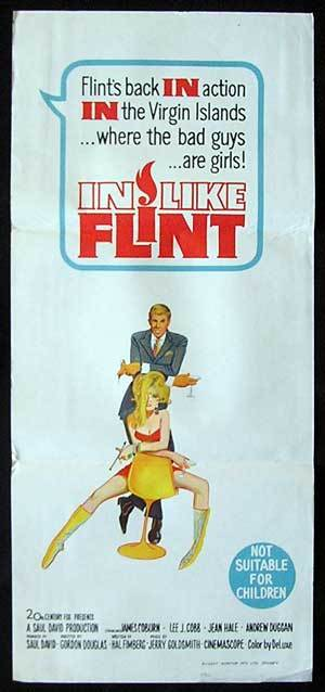 IN LIKE FLINT Movie Poster 1967 James Coburn daybill