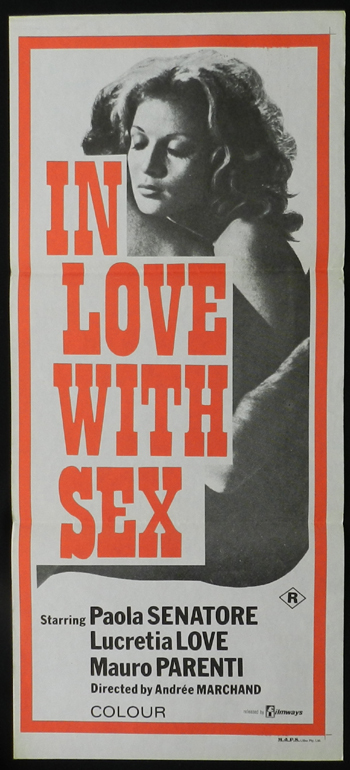 IN LOVE WITH SEX 1974 Lucretia Love French Cinema SEXPLOITATION daybill poster