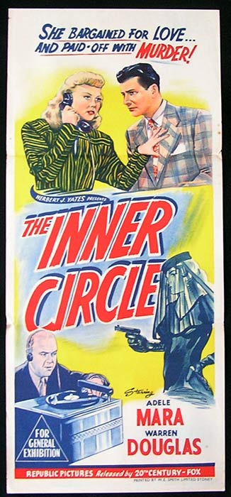 THE INNER CIRCLE Movie Poster 1946 Adele Mara Film Noir daybill