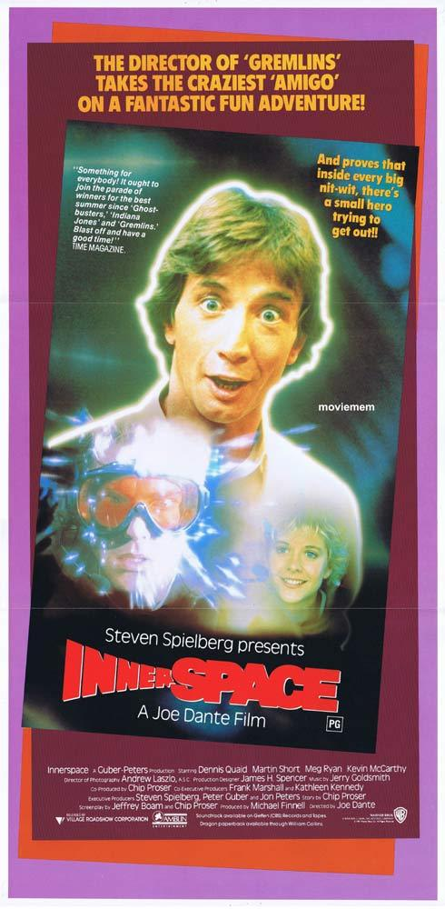 INNERSPACE Origiinal Daybill Movie poster Martin Short Meg Ryan Quaid
