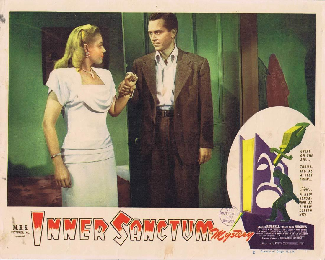 THE INNER SANCTUM Original Lobby Card Film Noir Mystery Radio series