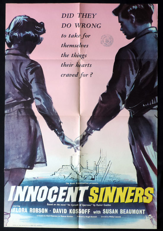 INNOCENT SINNERS One Sheet Movie Poster June Archer Christopher Hey Flora Robson Brian Hammond |