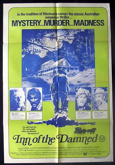 INN OF THE DAMNED 1975 Judith Anderson AUSTRALIAN ONE SHEET Movie poster