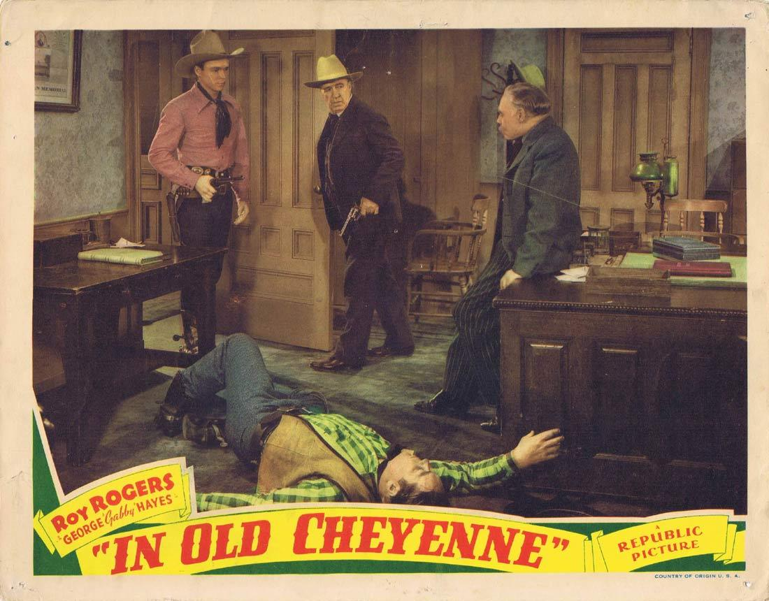 IN OLD CHEYENNE Original Lobby Card Roy Rogers Western