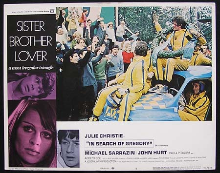 IN SEARCH OF GREGORY '70-Julie Christie ORIGINAL US Lobby card #5