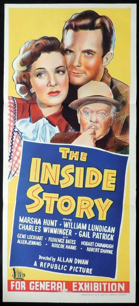 THE INSIDE STORY Original Daybill Movie Poster John Howard