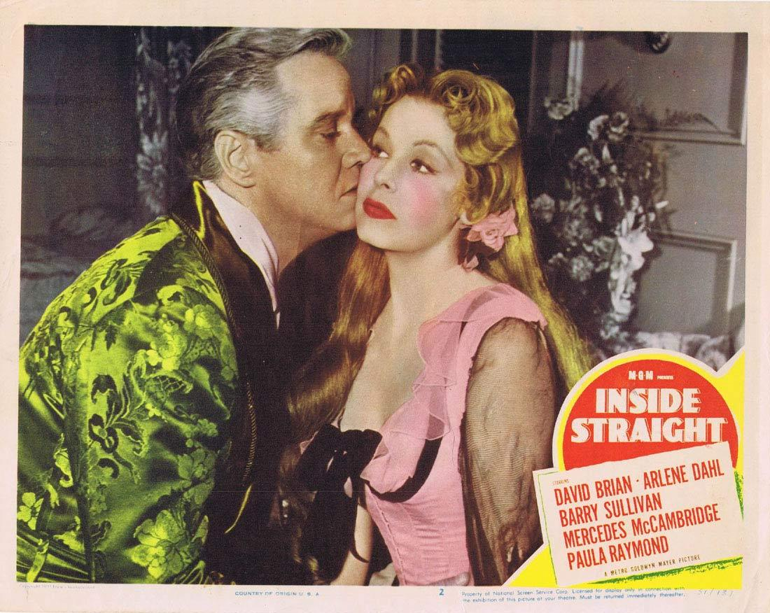 INSIDE STRAIGHT Lobby Card 2 David Brian Arlene Dahl Mercedes McCambridge