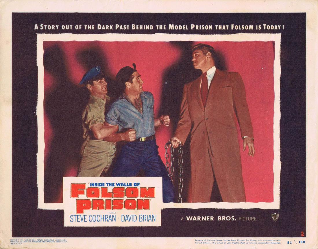 INSIDE THE WALLS OF FOLSOM PRISON Lobby card 2 Steve Cochran Film Noir