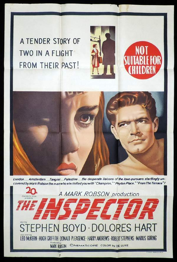 THE INSPECTOR One Sheet Movie Poster Stephen Boyd