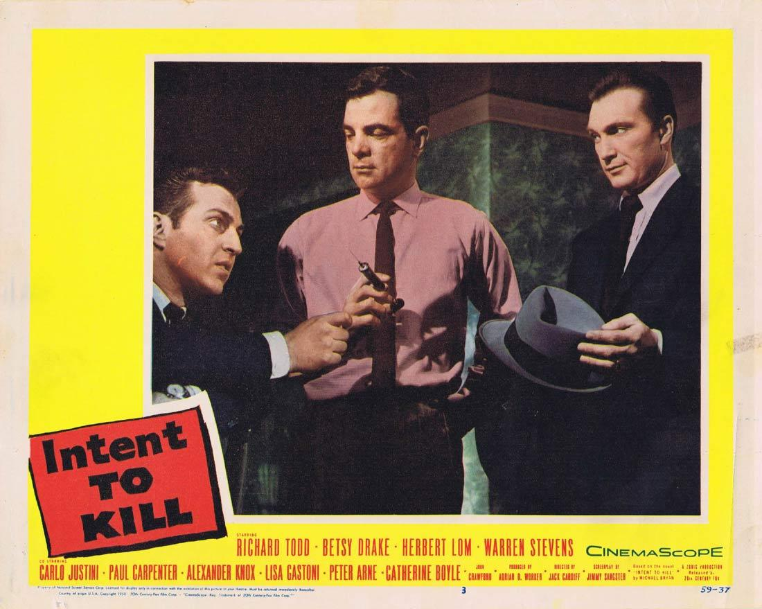 INTENT TO KILL Lobby Card 3 Richard Todd Betsy Drake Herbert Lom