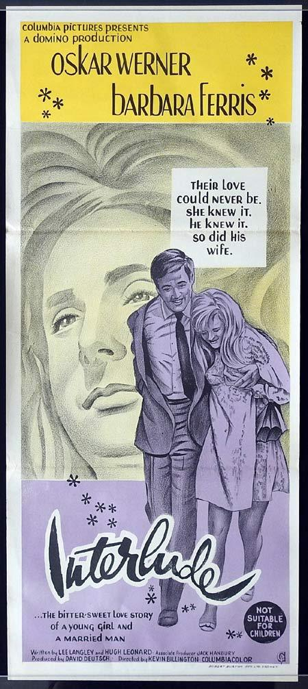 INTERLUDE Original Daybill Movie poster Oskar Werner Barbara Ferris