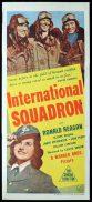 INTERNATIONAL SQUADRON Original Daybill Movie Poster Ronald Reagan Marchant