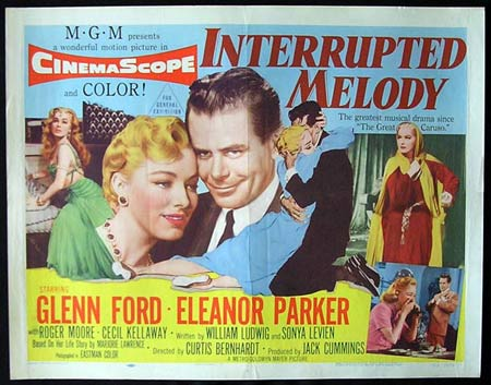 INTERRUPTED MELODY '55-Glenn Ford US HALF SHEET poster