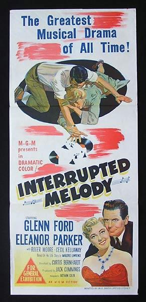 INTERRUPTED MELODY Original Daybill Movie Poster Eleanor Parker Glenn Ford