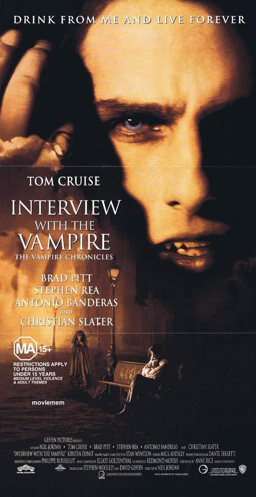 INTERVIEW WITH THE VAMPIRE Original Daybill Movie Poster Tom Cruise