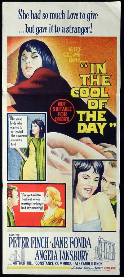 IN THE COOL OF THE DAY Daybill Movie Poster Peter Finch