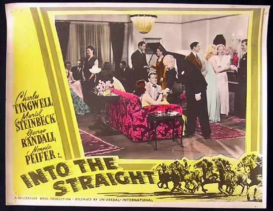 INTO THE STRAIGHT Australian Cinema Horseracing Memorabilia Lobby Card 3