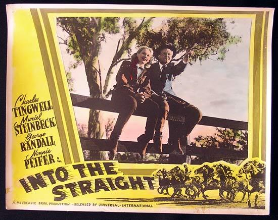 INTO THE STRAIGHT Australian Cinema Horseracing Memorabilia Lobby Card 4