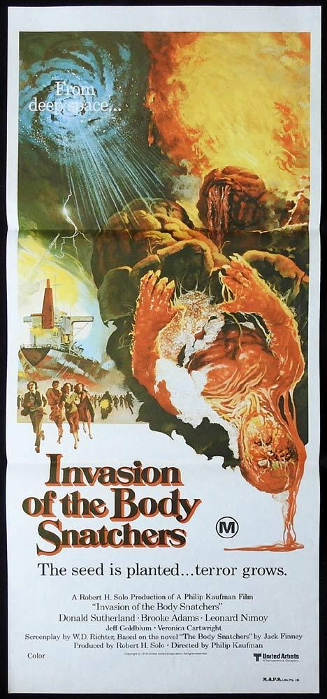 INVASION OF THE BODY SNATCHERS Original daybill Movie Poster