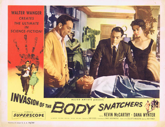 INVASION OF THE BODY SNATCHERS 1956 Lobby Card Kevin McCarthy
