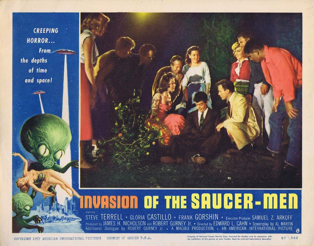 INVASION OF THE SAUCER MEN Original Lobby Card 8 Steven Terrell Sci Fi classic