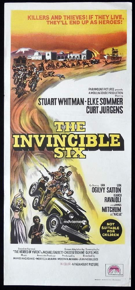 THE INVINCIBLE SIX Original Daybill Movie Poster Stuart Whitman Elke Sommer