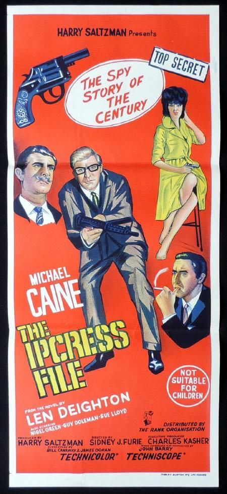 THE IPCRESS FILE Original Daybill Movie Poster Michael Caine as Harry Palmer