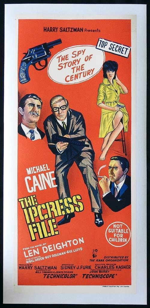 THE IPCRESS FILE Daybill Movie poster LINEN BACKED Michael Caine