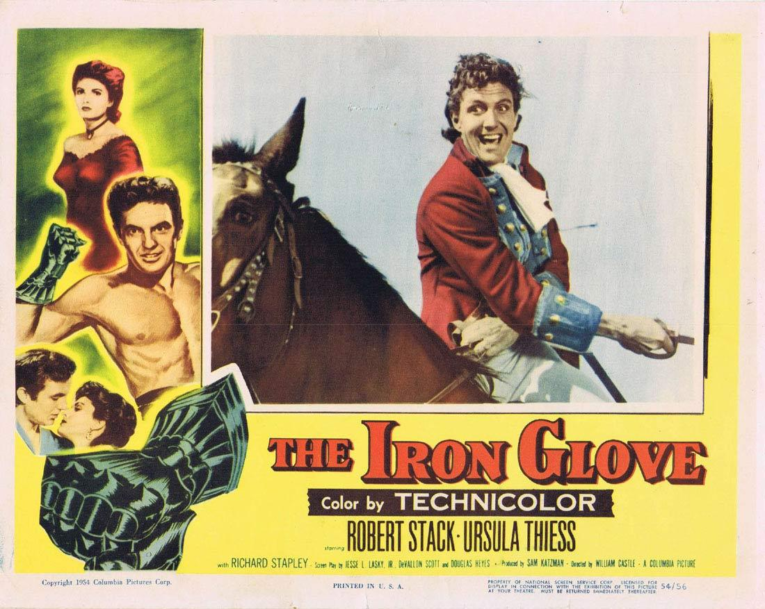 THE IRON GLOVE Lobby card 2 Robert Stack Ursula Thiess William Castle