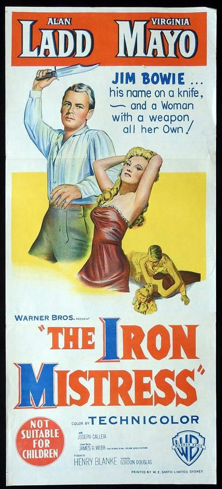 THE IRON MISTRESS Original daybill Movie Poster Alan Ladd Virginia Mayo