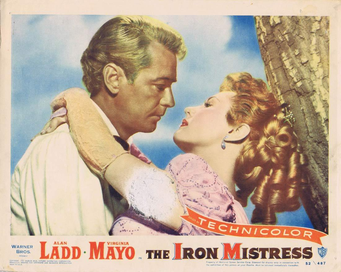 THE IRON MISTRESS Original Lobby Card Alan Ladd Virginia Mayo