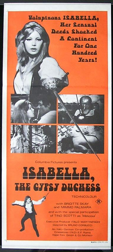 ISABELLA THE GYPSY DUCHESS Brigitte Skay Australian Daybill Movie poster