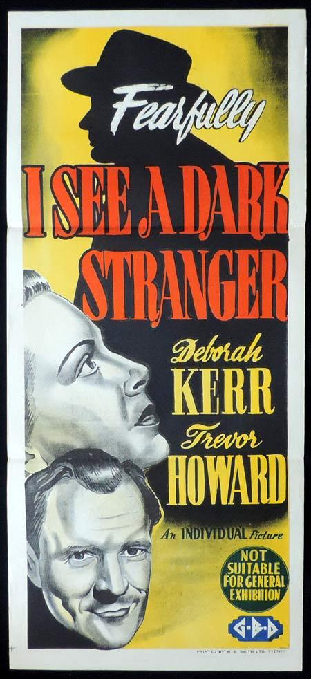 I SEE A DARK STRANGER Original Daybill Movie Poster Deborah Kerr Trevor Howard