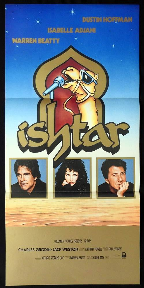 ISHTAR Original daybill Movie Poster Warren Beatty DUSTIN HOFFMAN Charles Grodin