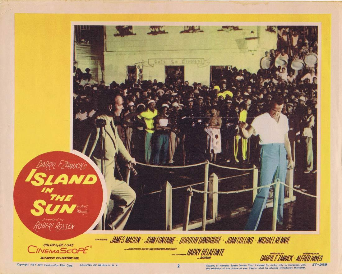 ISLAND IN THE SUN Lobby Card 2 James Mason Harry Belafonte Joan Fontaine