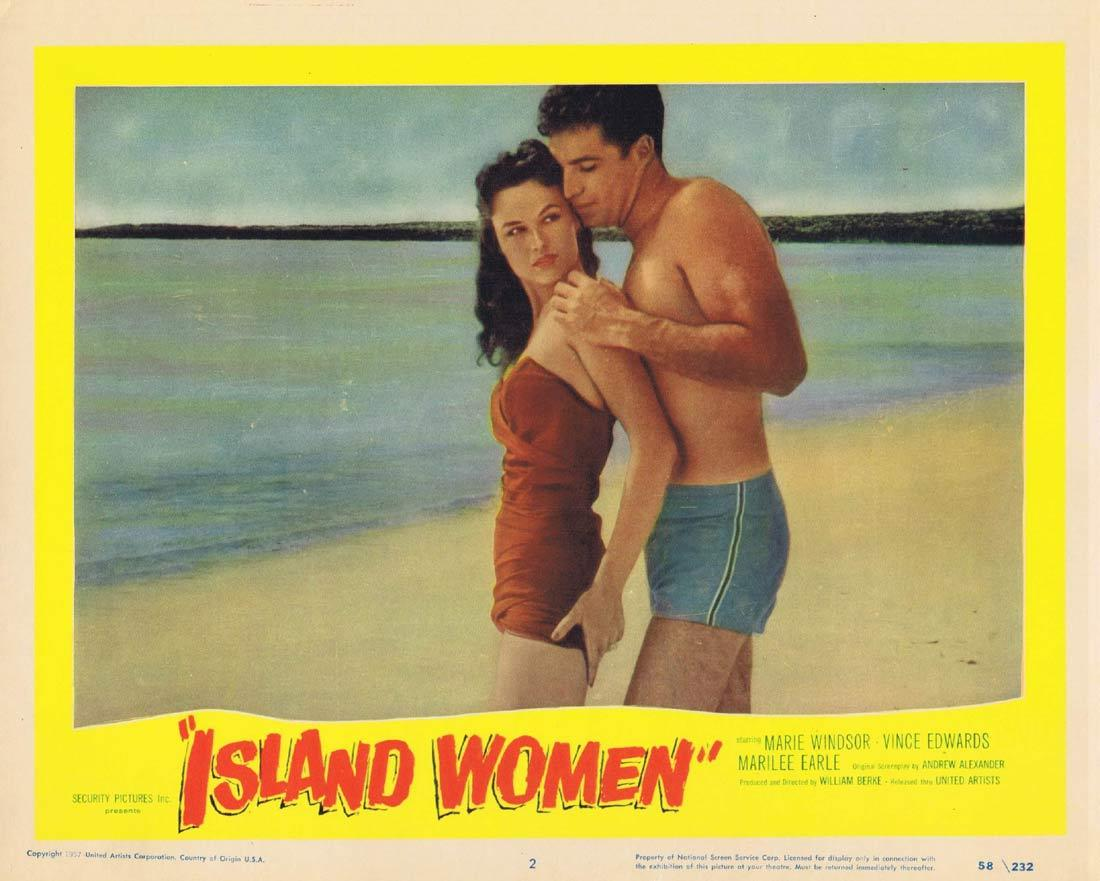 ISLAND WOMEN Lobby Card 2 Marie Windsor Vince Edwards